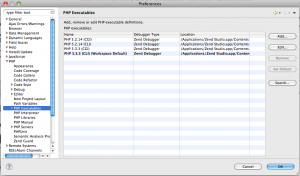 Setting PHP executable